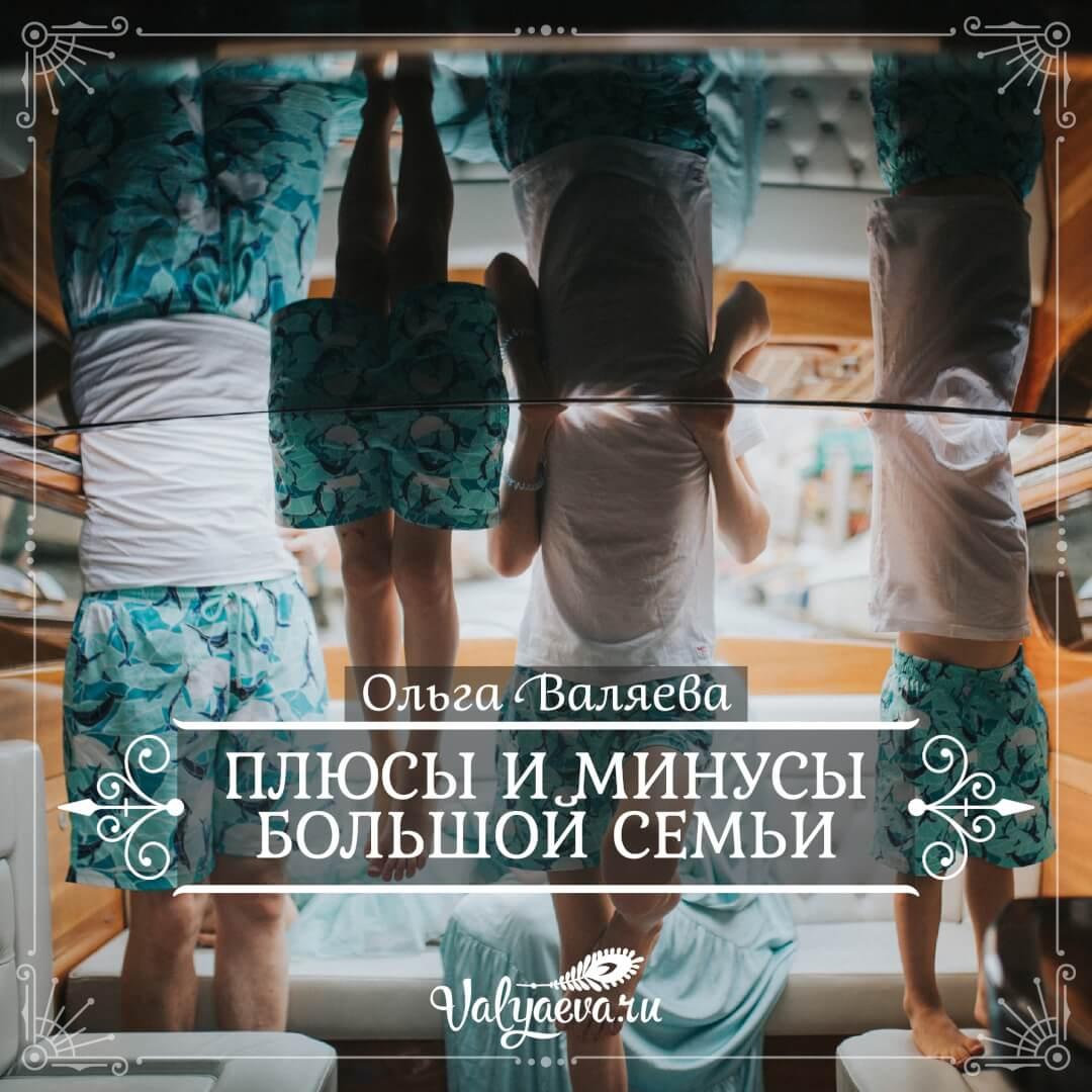 Ольга Валяева - Плюсы и минусы большой семьи